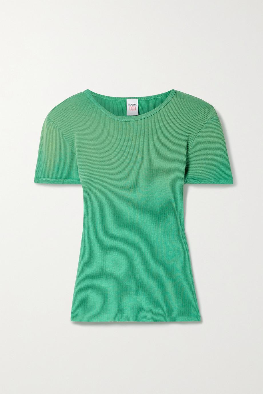 RE/DONE 90s T-Shirt aus geripptem Baumwoll-Jersey