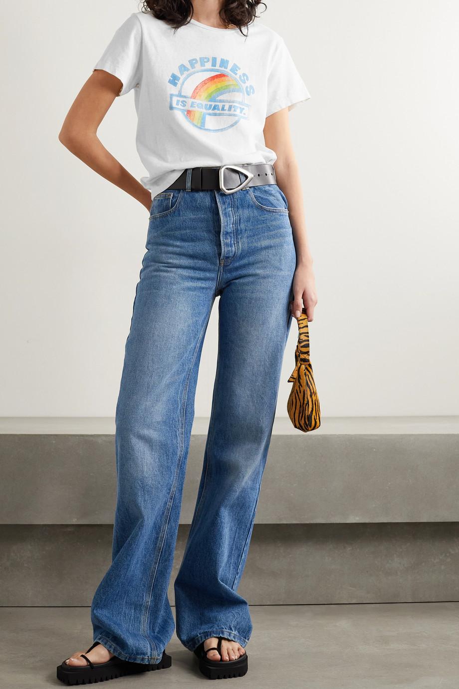 RE/DONE + Hanes T-Shirt aus Baumwoll-Jersey mit Print