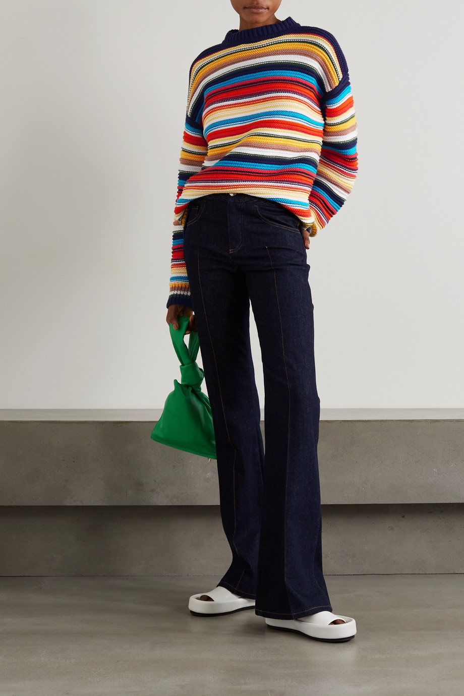 Victoria, Victoria Beckham Pull en coton à rayures