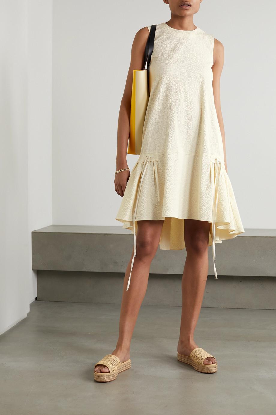 Victoria, Victoria Beckham Tiered cotton-blend cloqué mini dress
