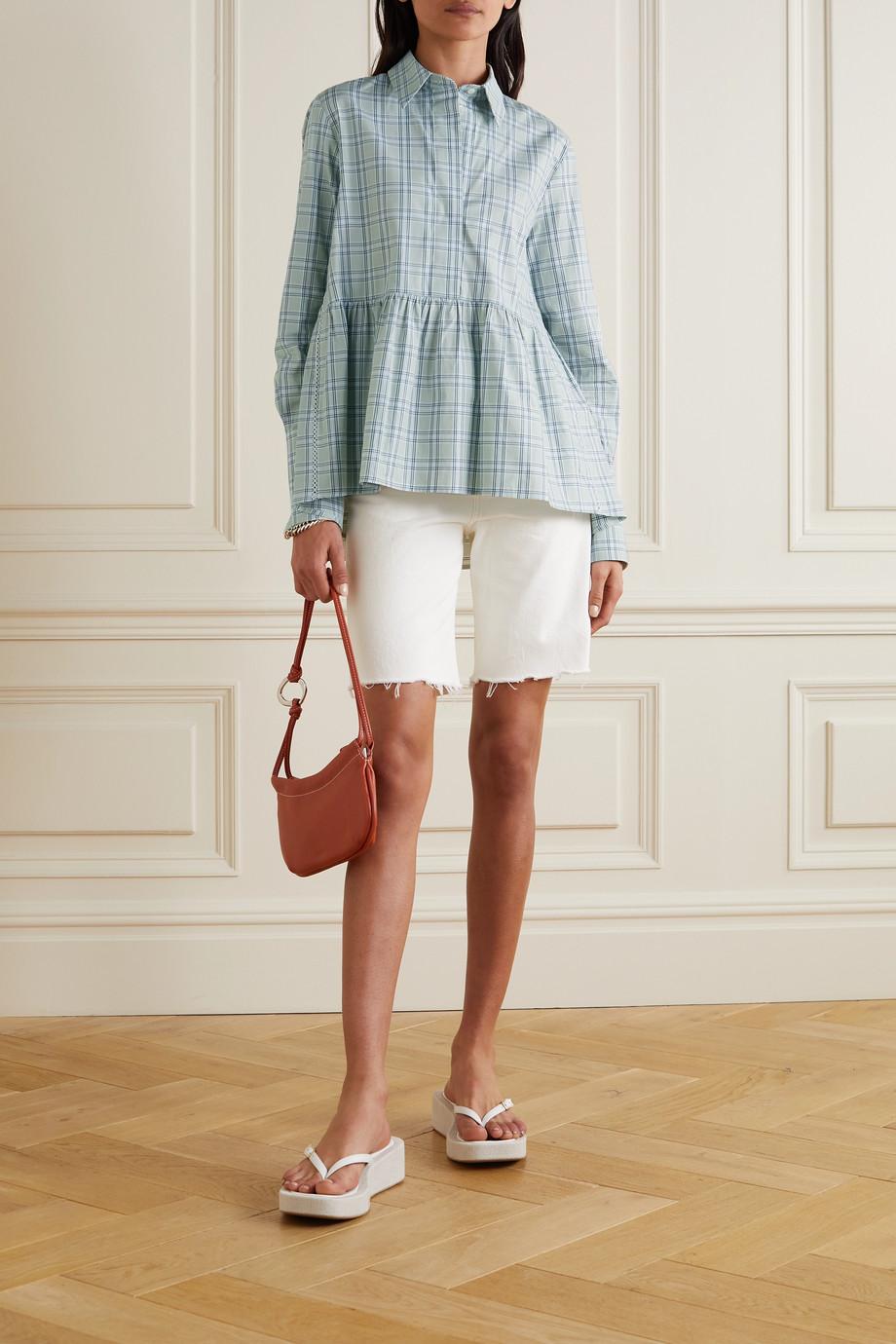 Victoria, Victoria Beckham Checked cotton-poplin shirt