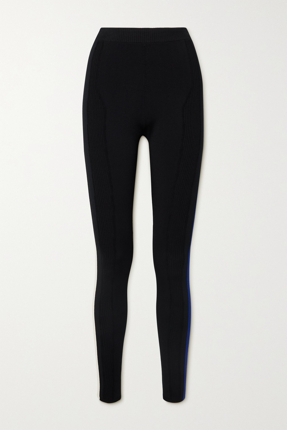 AZ Factory Your Body striped stretch-knit leggings