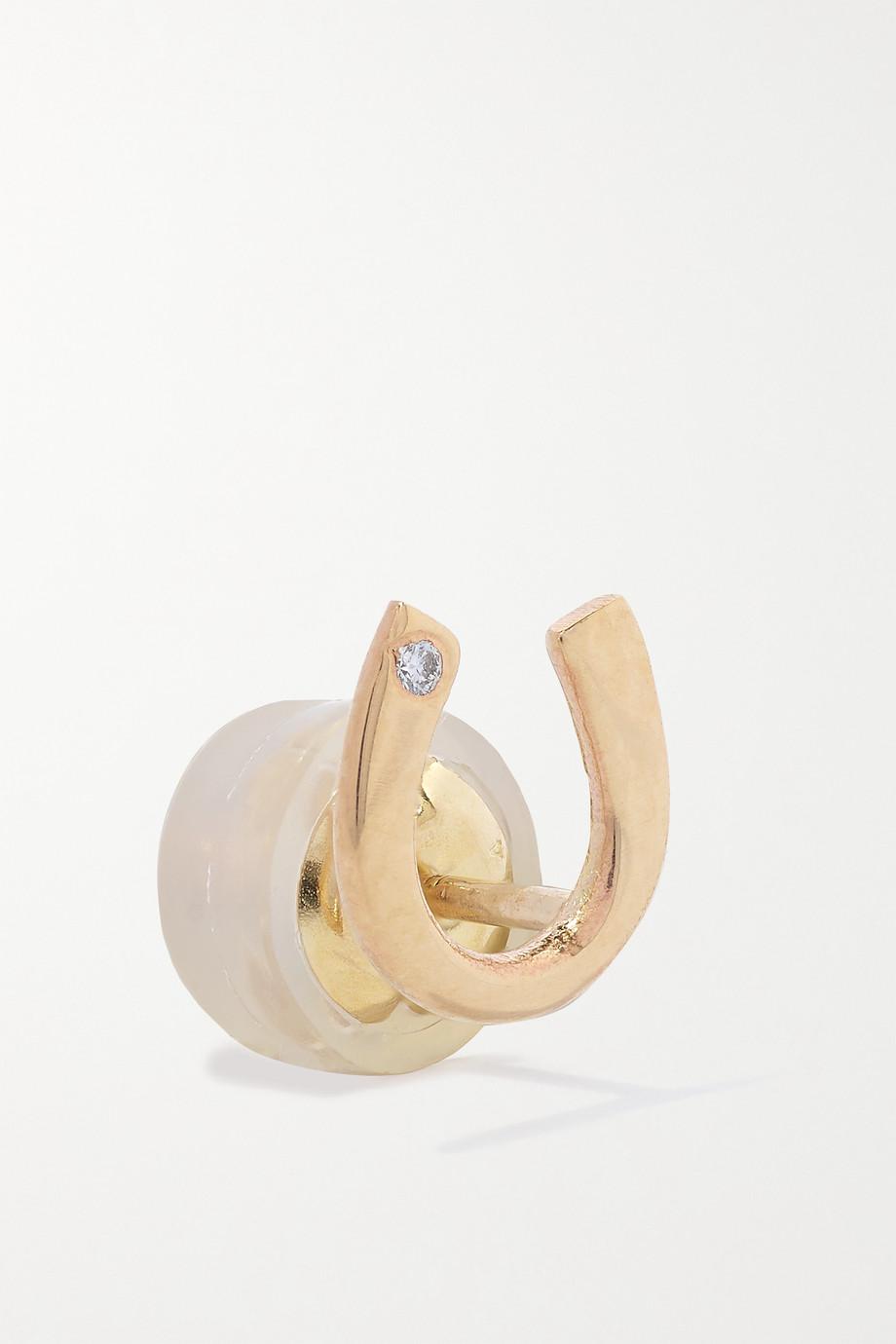 Melissa Joy Manning Boucles d'oreilles en or 14carats recyclé et diamant