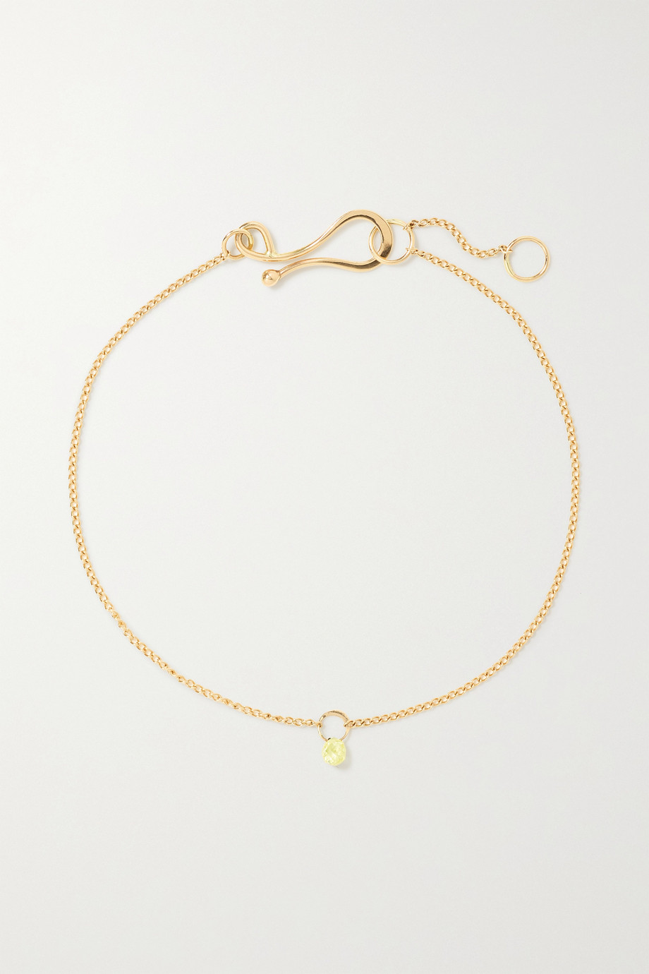 Melissa Joy Manning 14-karat recycled gold labradorite bracelet