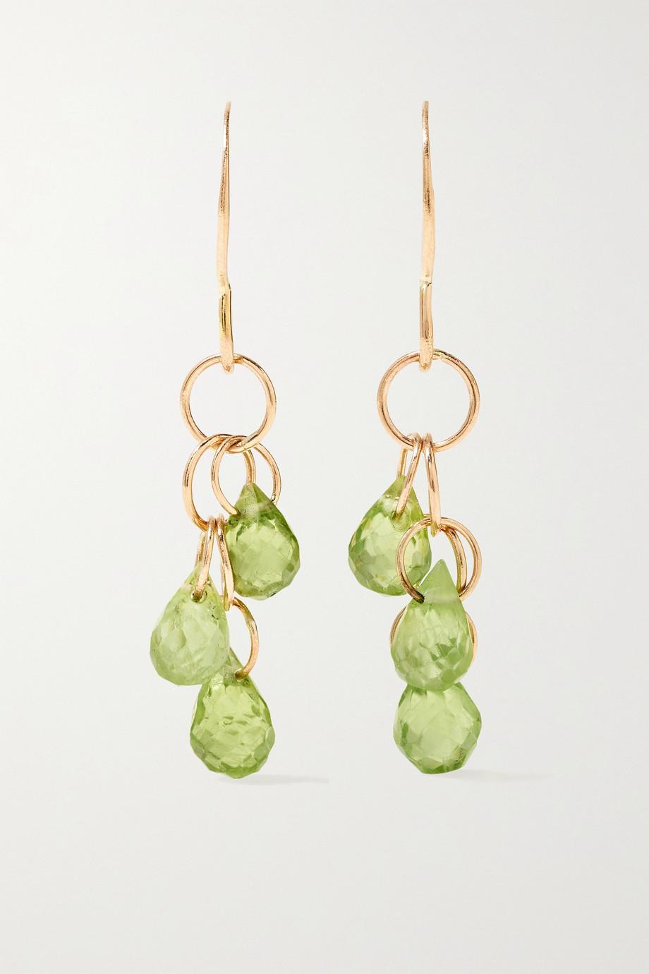Melissa Joy Manning 14-karat recycled gold peridot earrings
