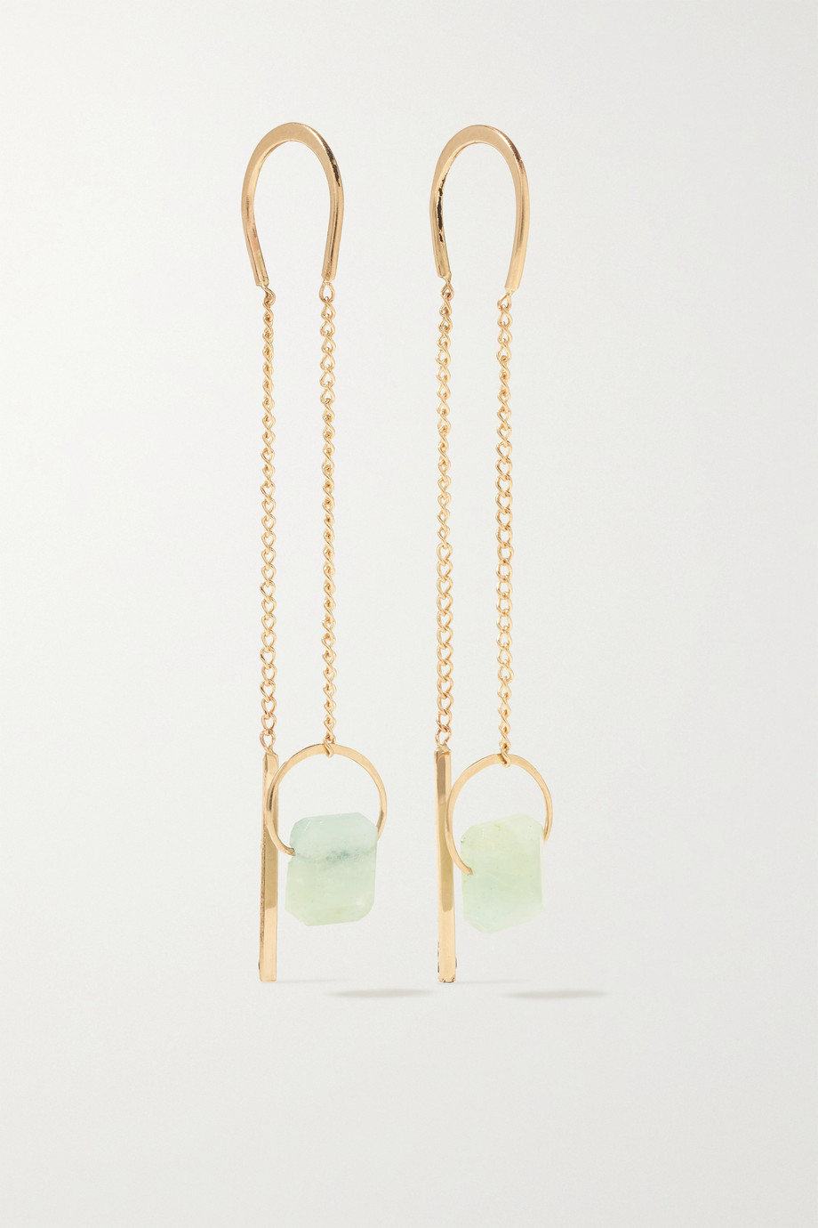 Melissa Joy Manning 14-karat recycled gold aquamarine earrings