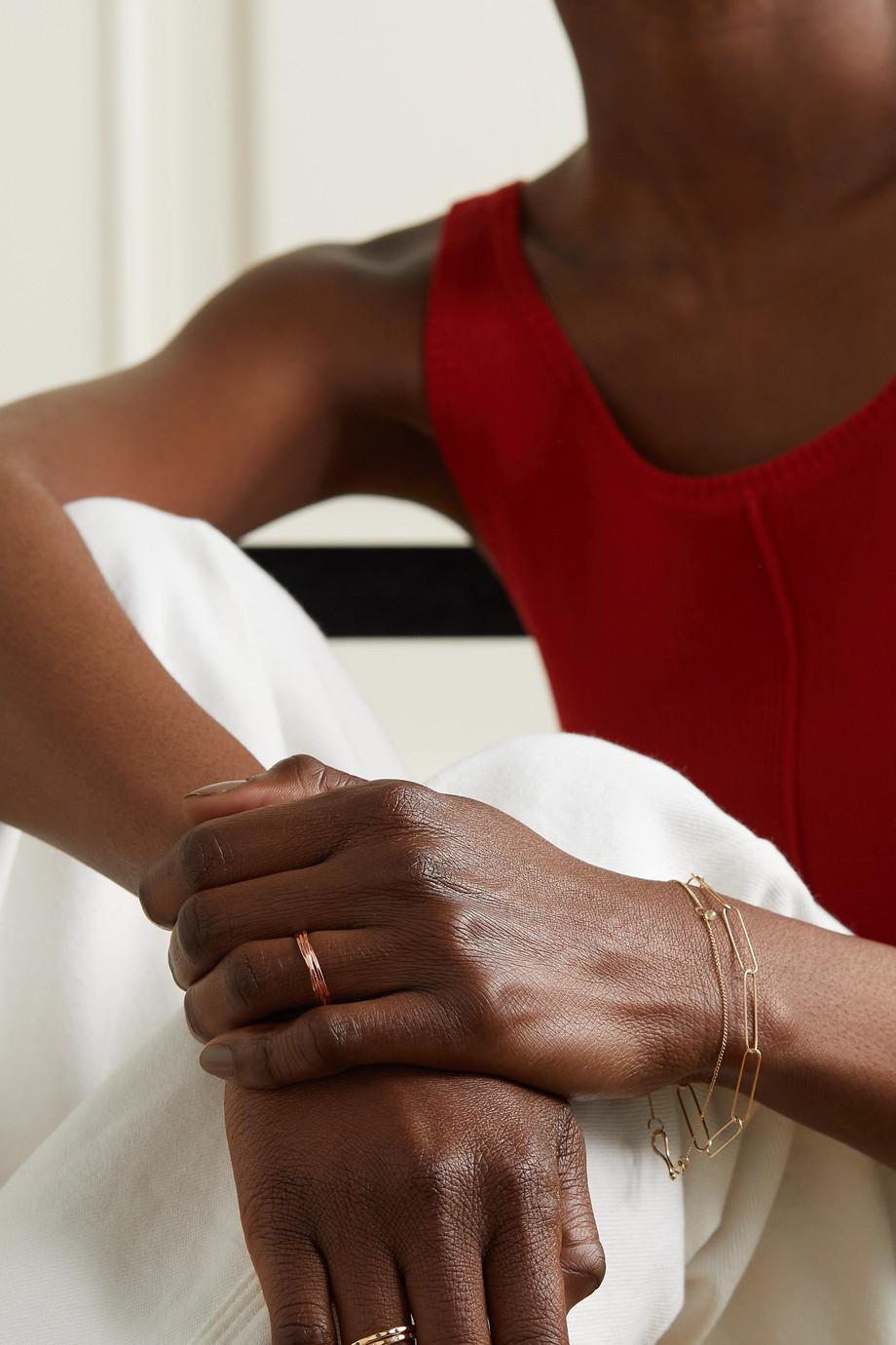 Melissa Joy Manning Bague à anneaux entrelacés en or rose 14 carats recyclé