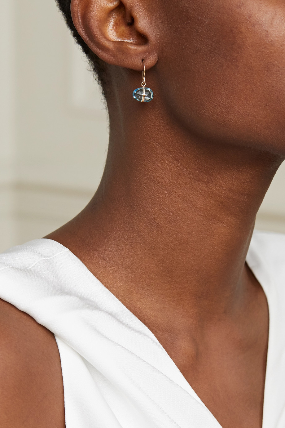 Melissa Joy Manning 14-karat recycled gold topaz earrings