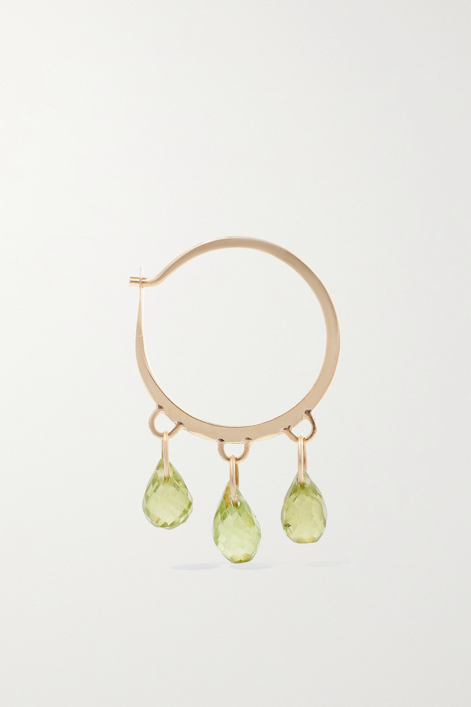Melissa Joy Manning 14-karat recycled gold peridot hoop earrings