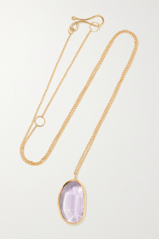 Melissa Joy Manning - 14-karat recycled gold amethyst necklace