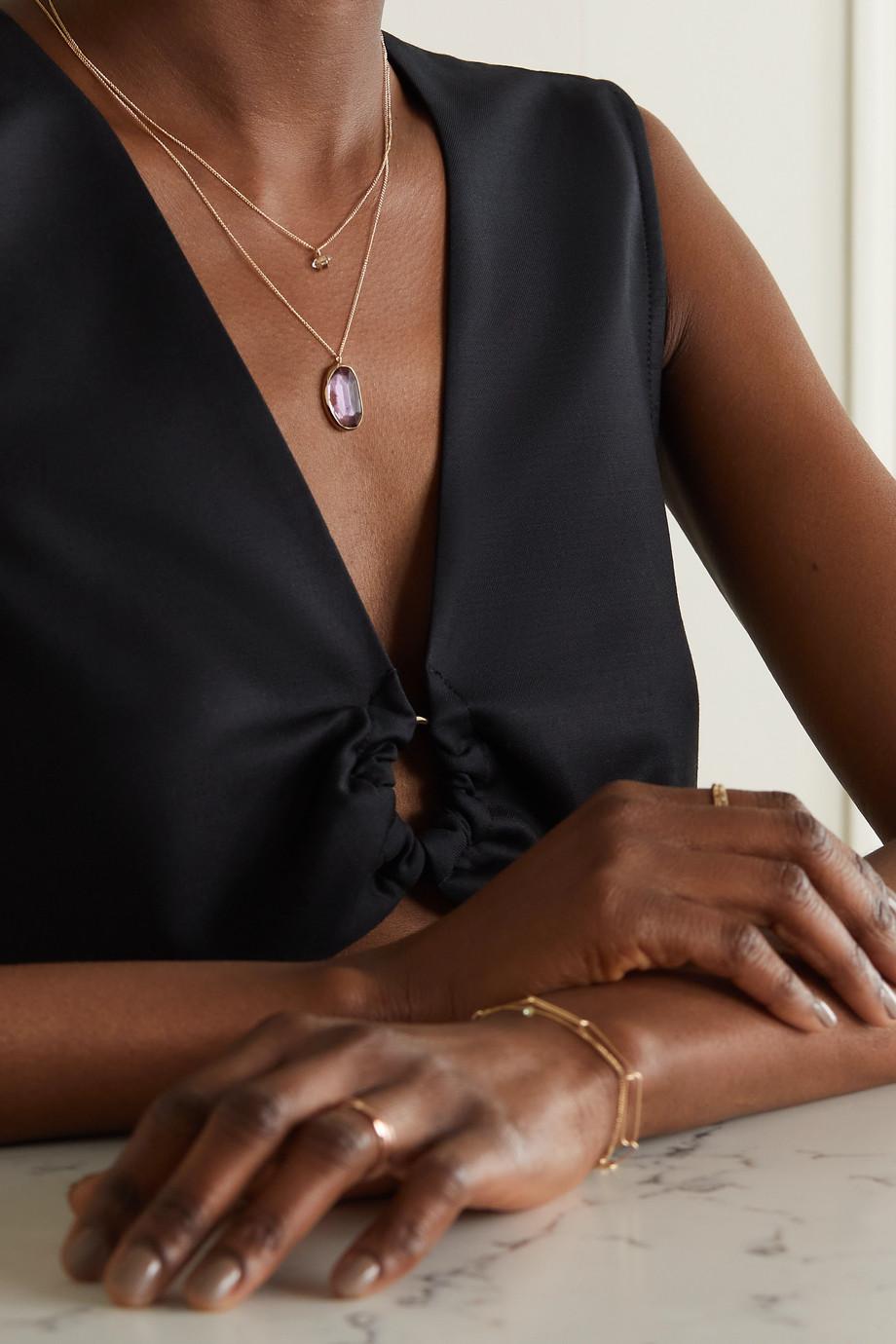 Melissa Joy Manning 14-karat recycled gold amethyst necklace