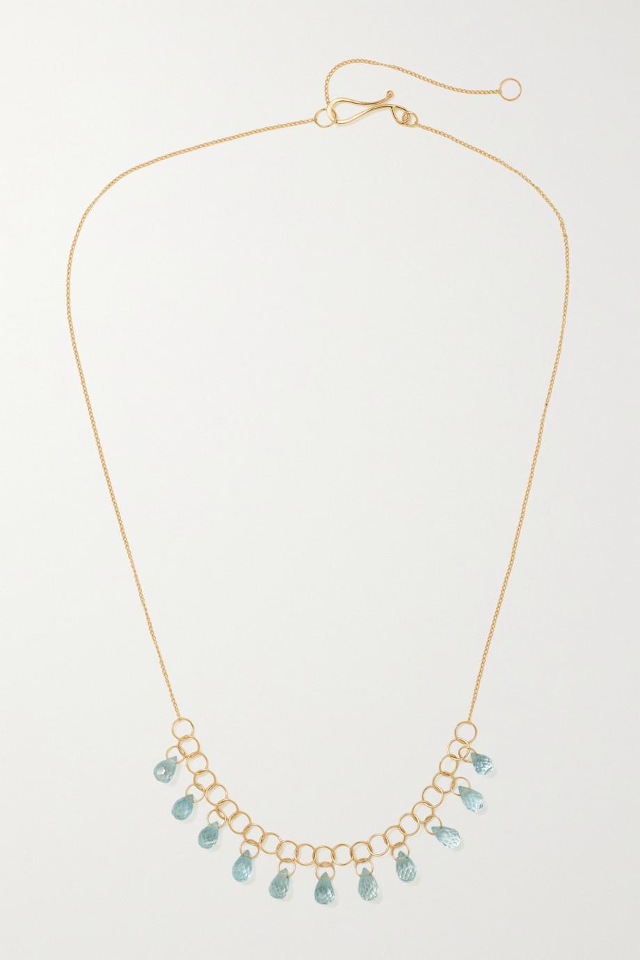 Melissa Joy Manning 14-karat recycled gold topaz necklace