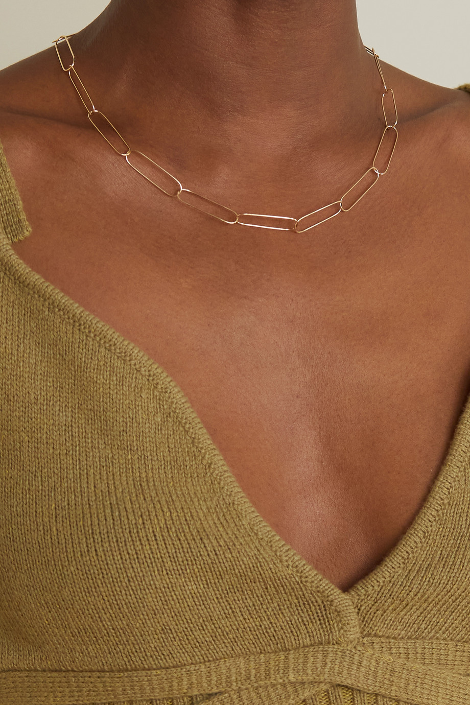 Melissa Joy Manning 14-karat recycled gold necklace