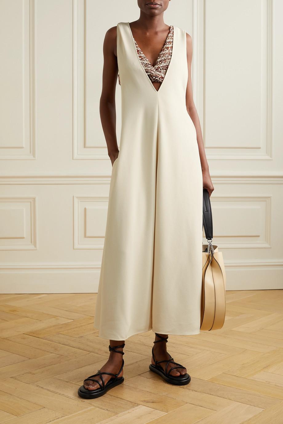 Proenza Schouler Layered stretch-crepe maxi dress