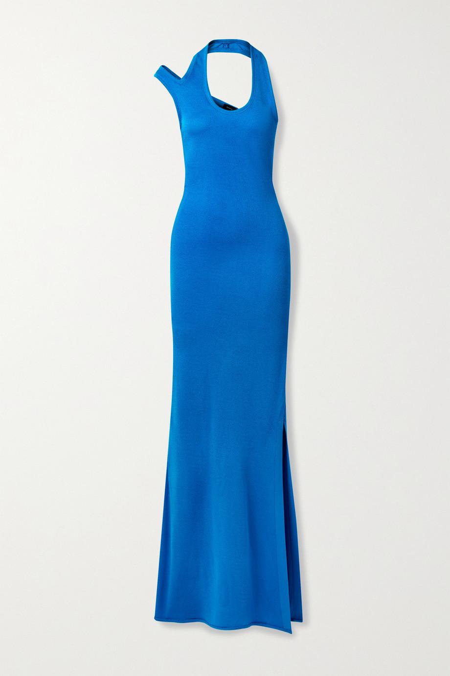 Proenza Schouler Cutout stretch-crepe halterneck maxi dress