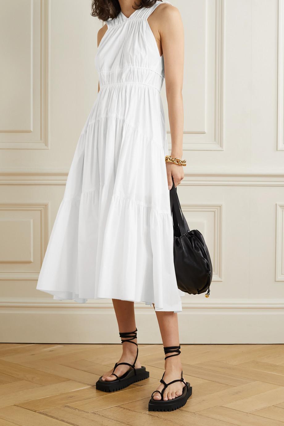 Proenza Schouler Kleid aus Baumwollpopeline mit Raffungen