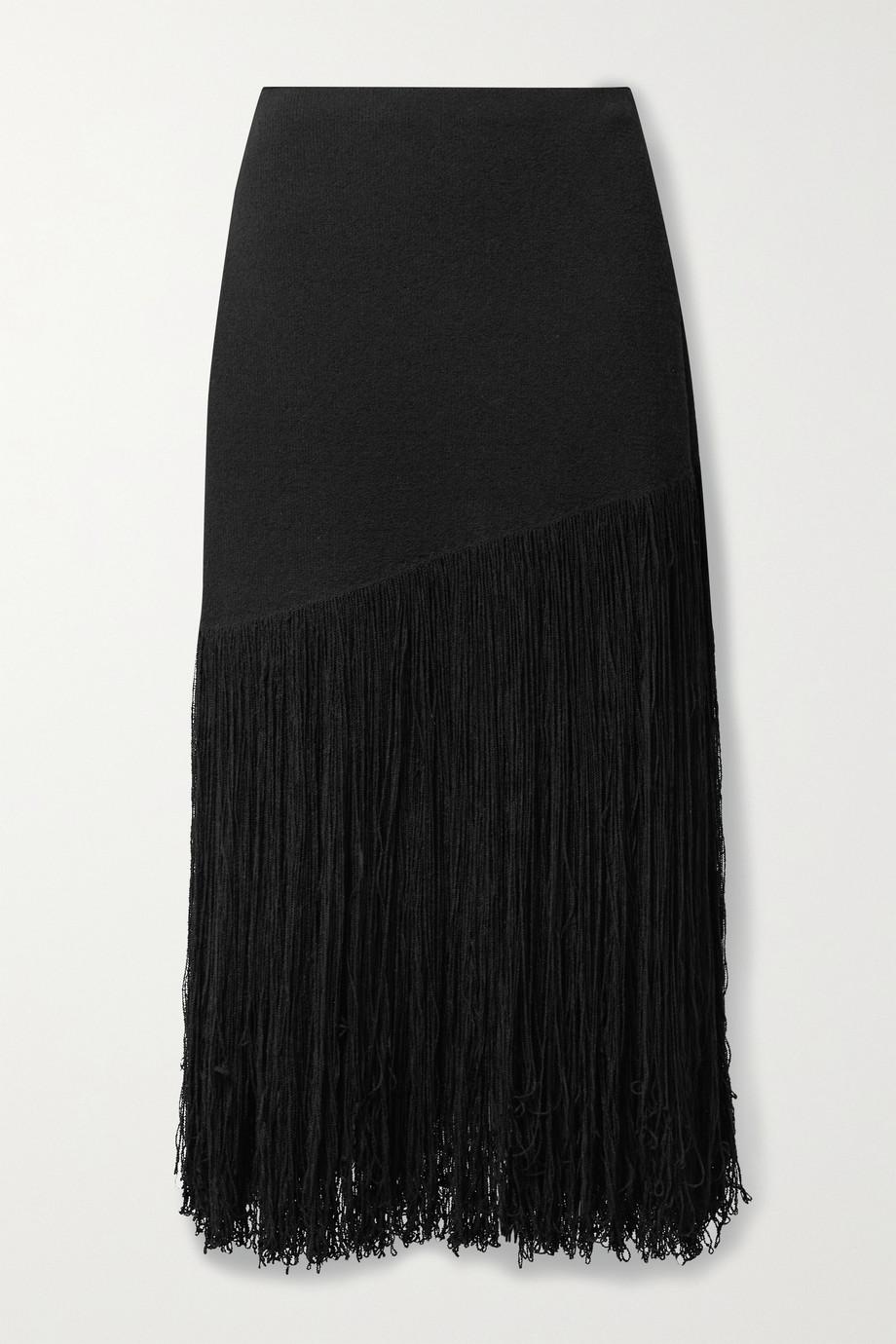 Proenza Schouler Fringed cotton-blend midi skirt