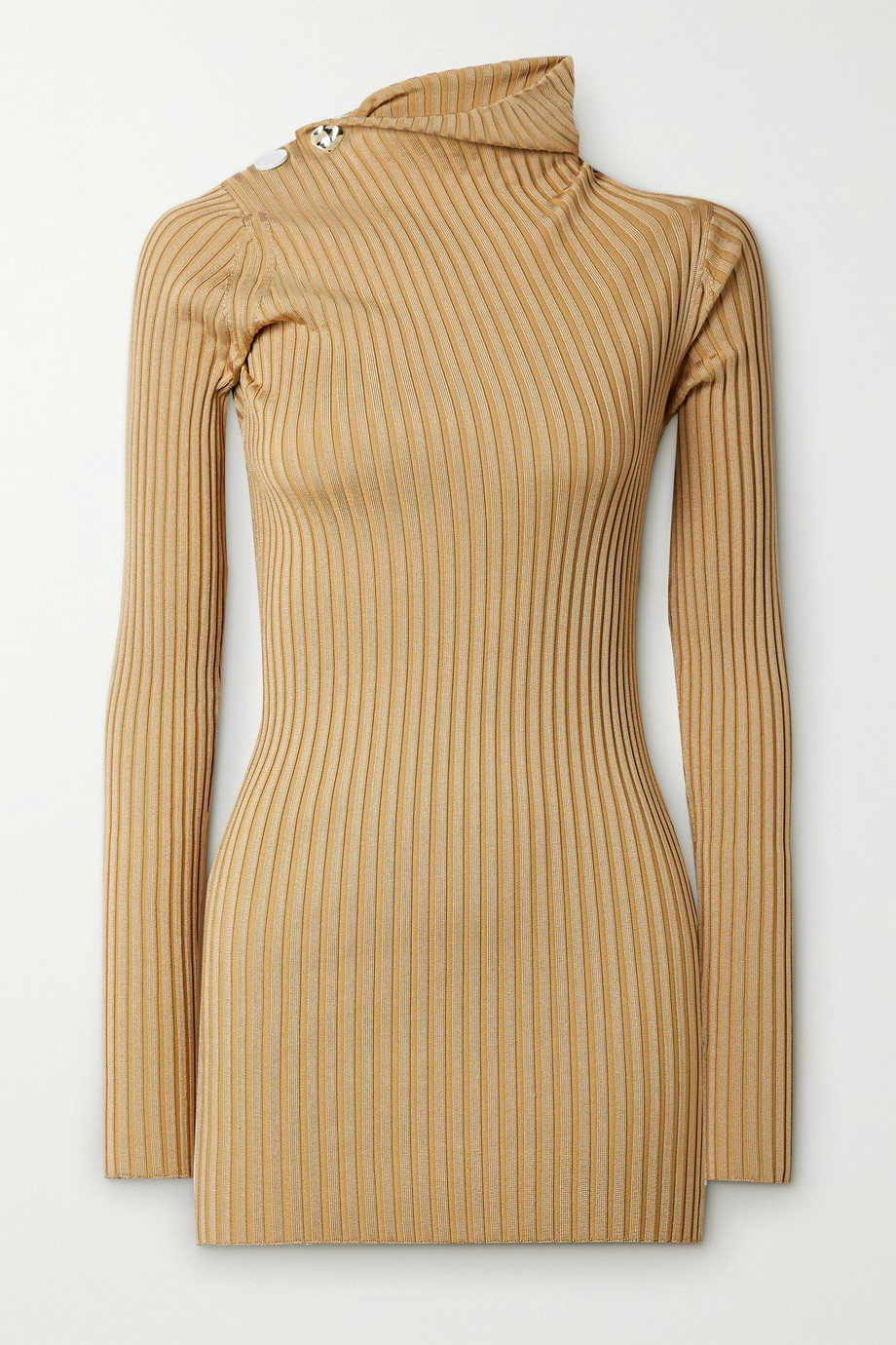 Proenza Schouler Button-embellished ribbed-knit sweater