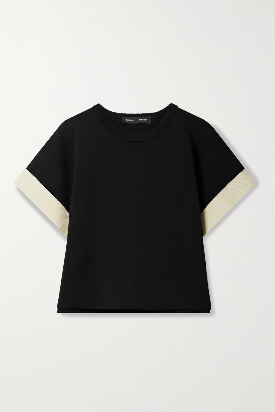 Proenza Schouler Button-detailed cotton-blend top