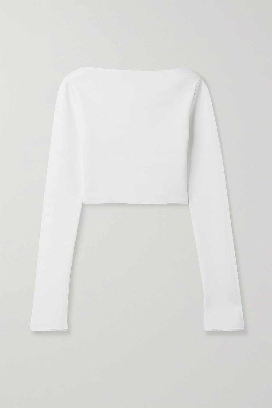 Proenza Schouler Cropped stretch-knit top