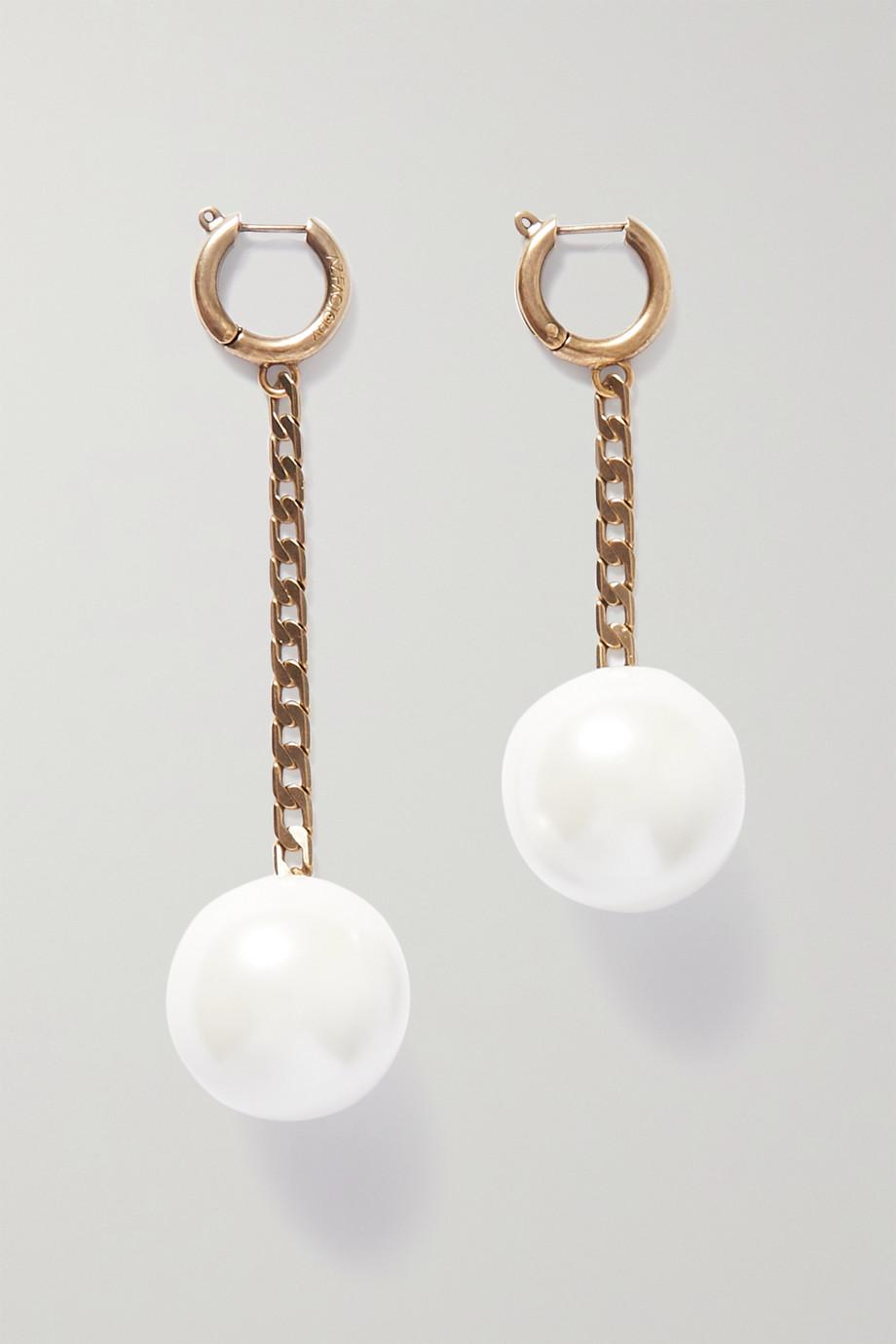 AZ Factory Gold-tone faux pearl earrings