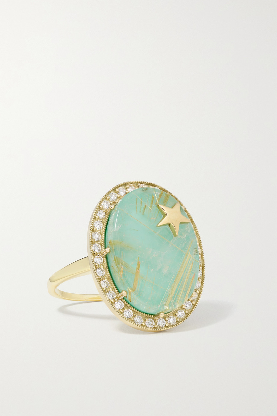 Andrea Fohrman Zenith Ring aus 14 Karat Gold mit Dublette und Diamanten