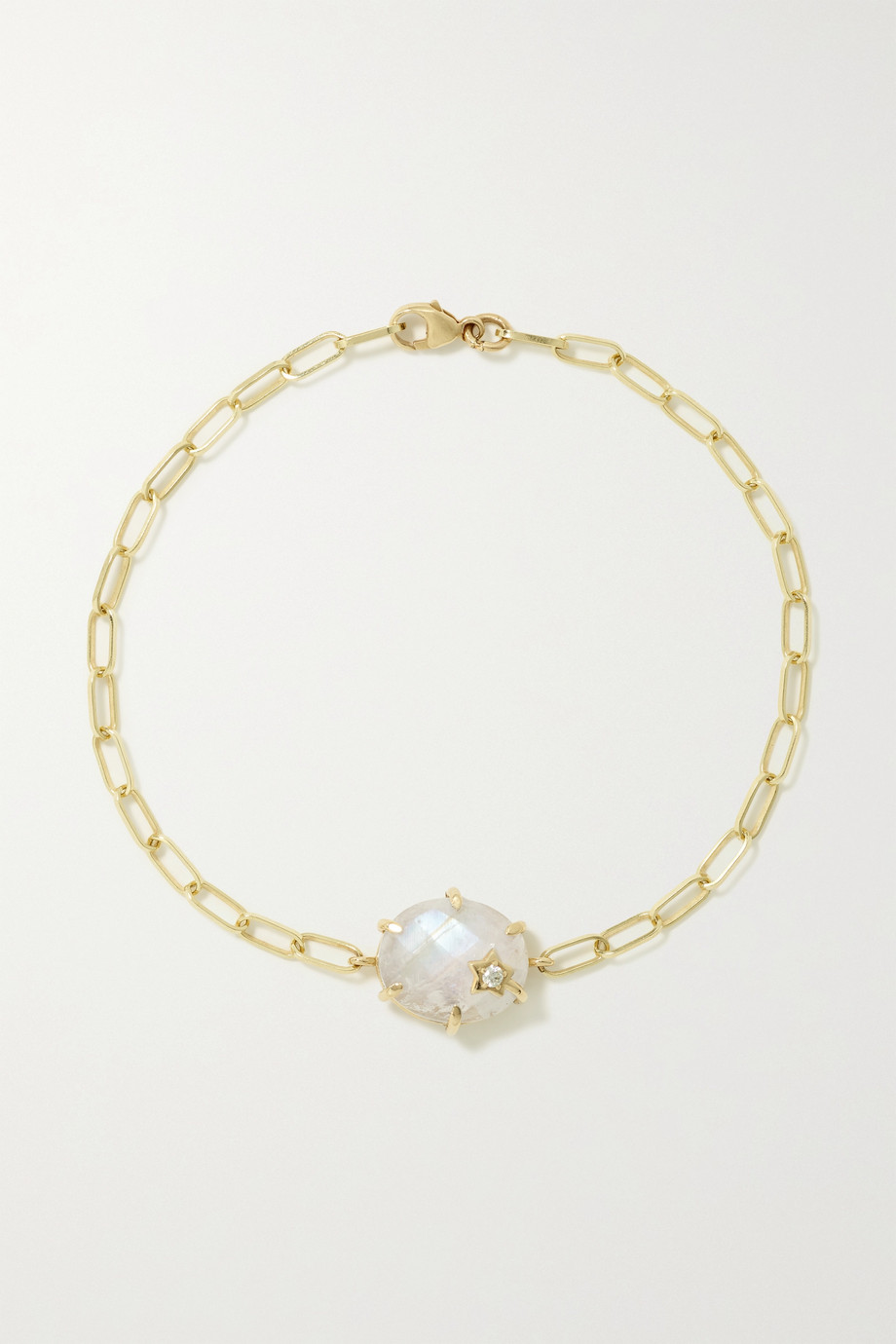 Andrea Fohrman Mini Galaxy 14-karat gold, moonstone and diamond bracelet
