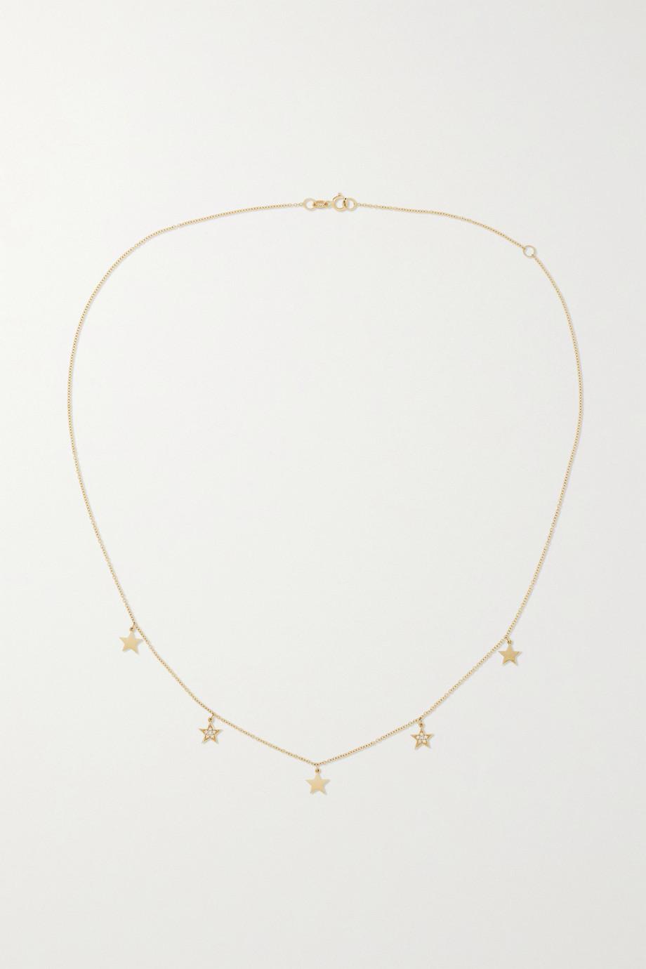 Andrea Fohrman Collier en or 14 carats et diamants Star