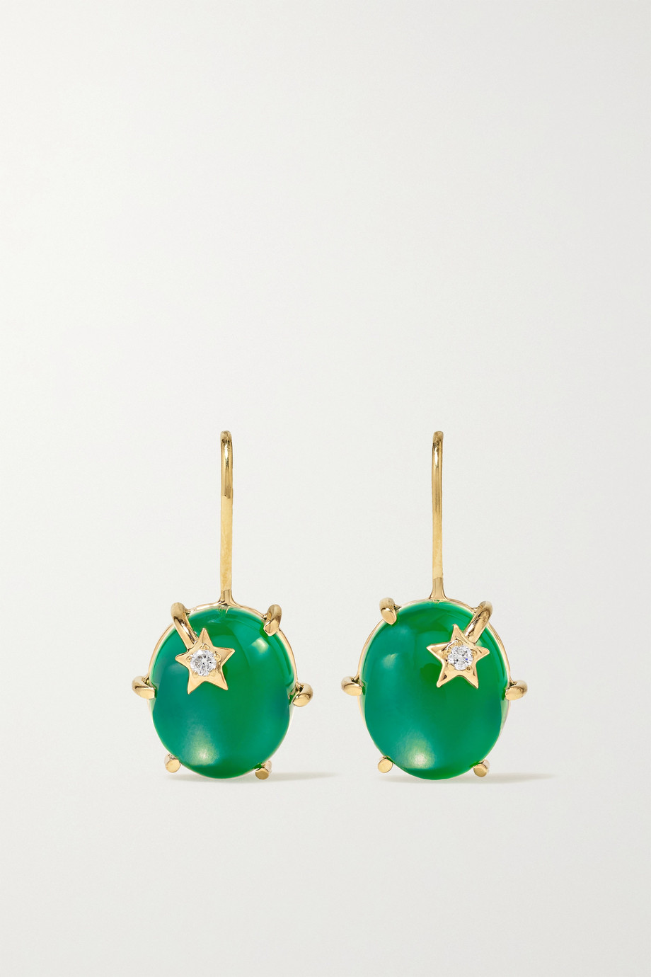 Andrea Fohrman Mini Galaxy 18-karat gold, onyx and diamond earrings