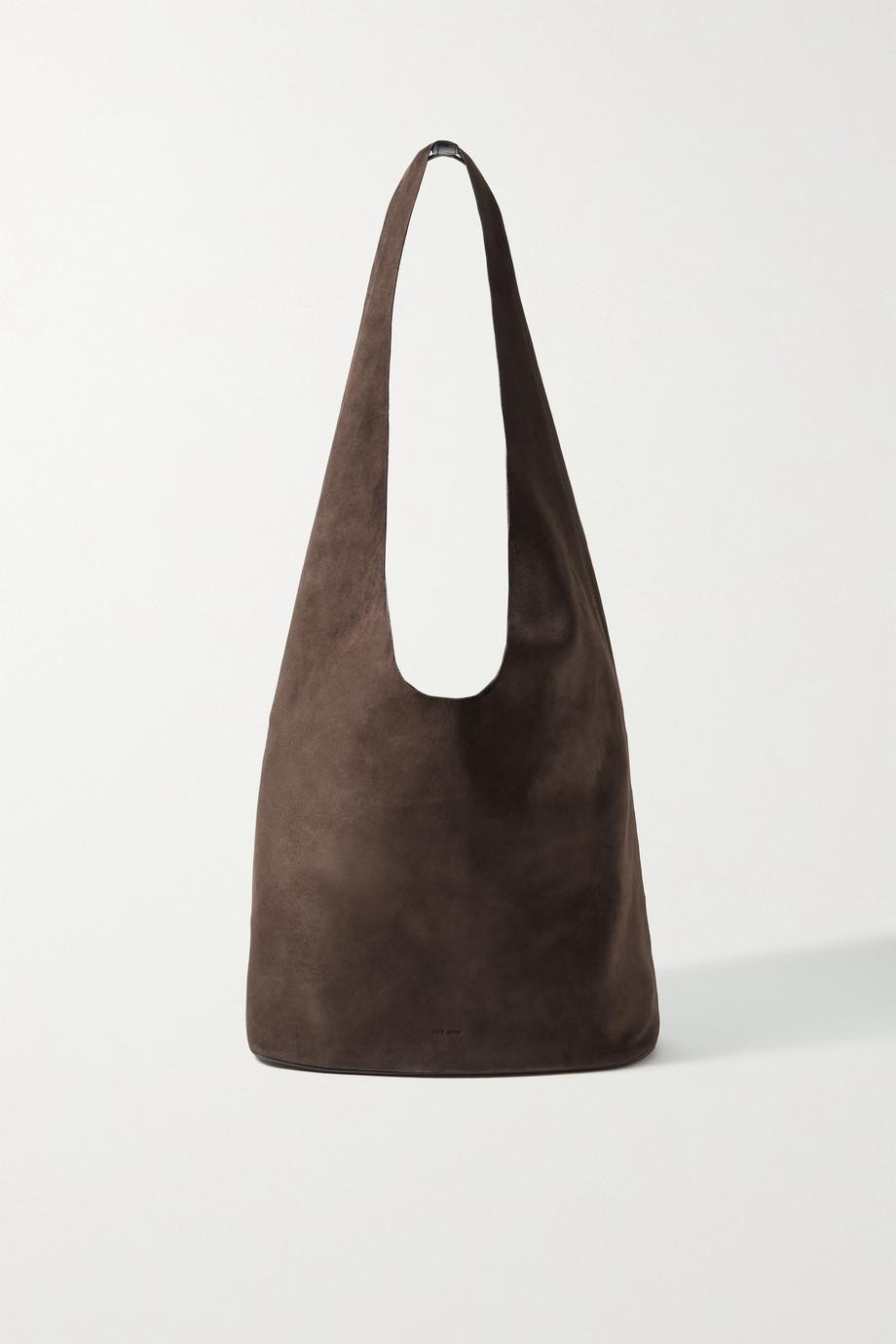 The Row Bindle Three suede shoulder bag