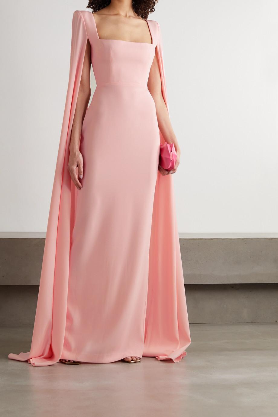Alex Perry Auden cape-effect satin-crepe gown