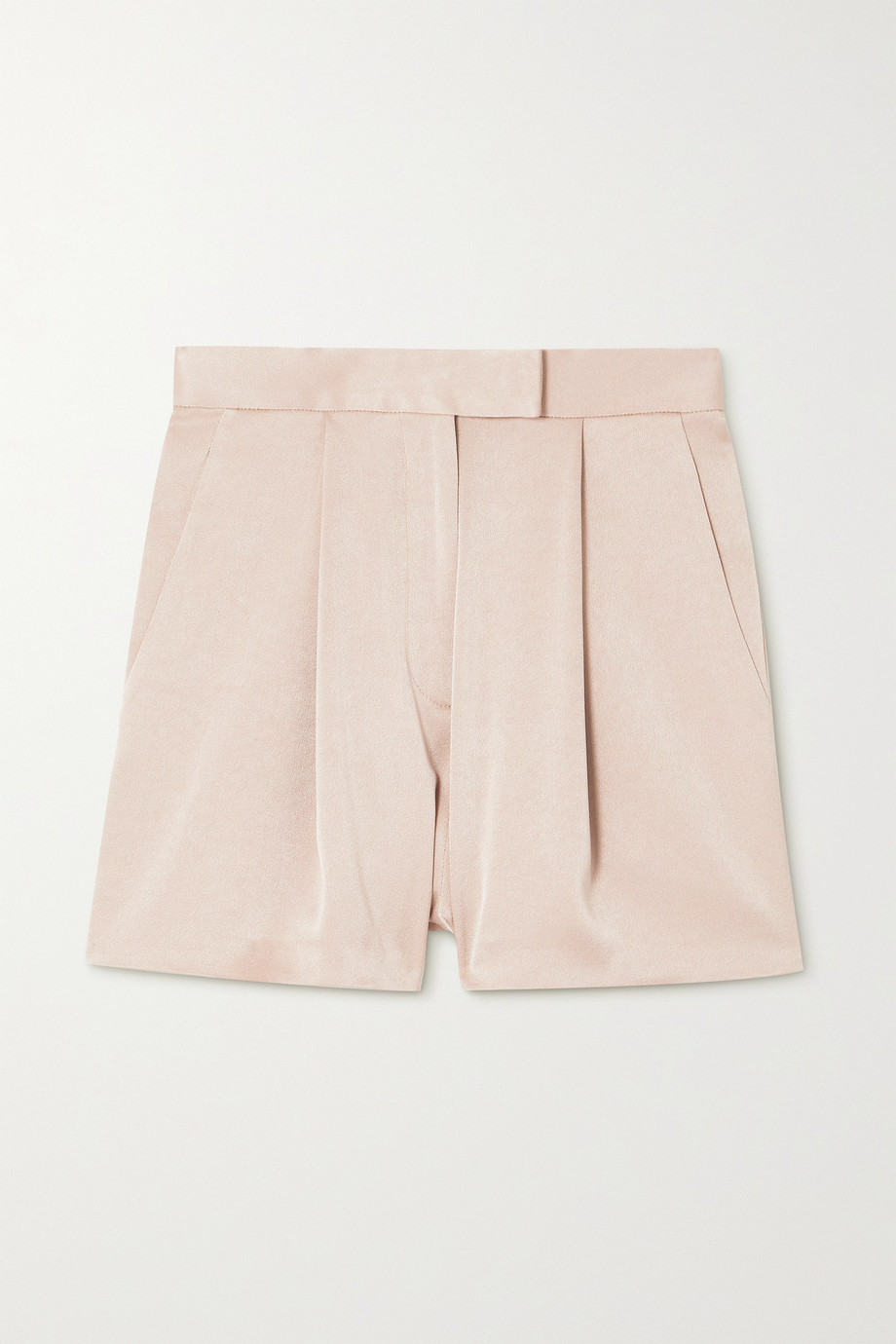 Alex Perry Avery pleated satin-crepe shorts