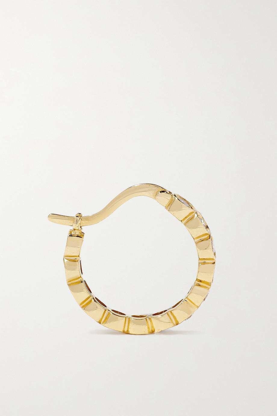 Octavia Elizabeth + NET SUSTAIN Petite Chloe Creolen aus recyceltem 18 Karat Gold mit Diamanten