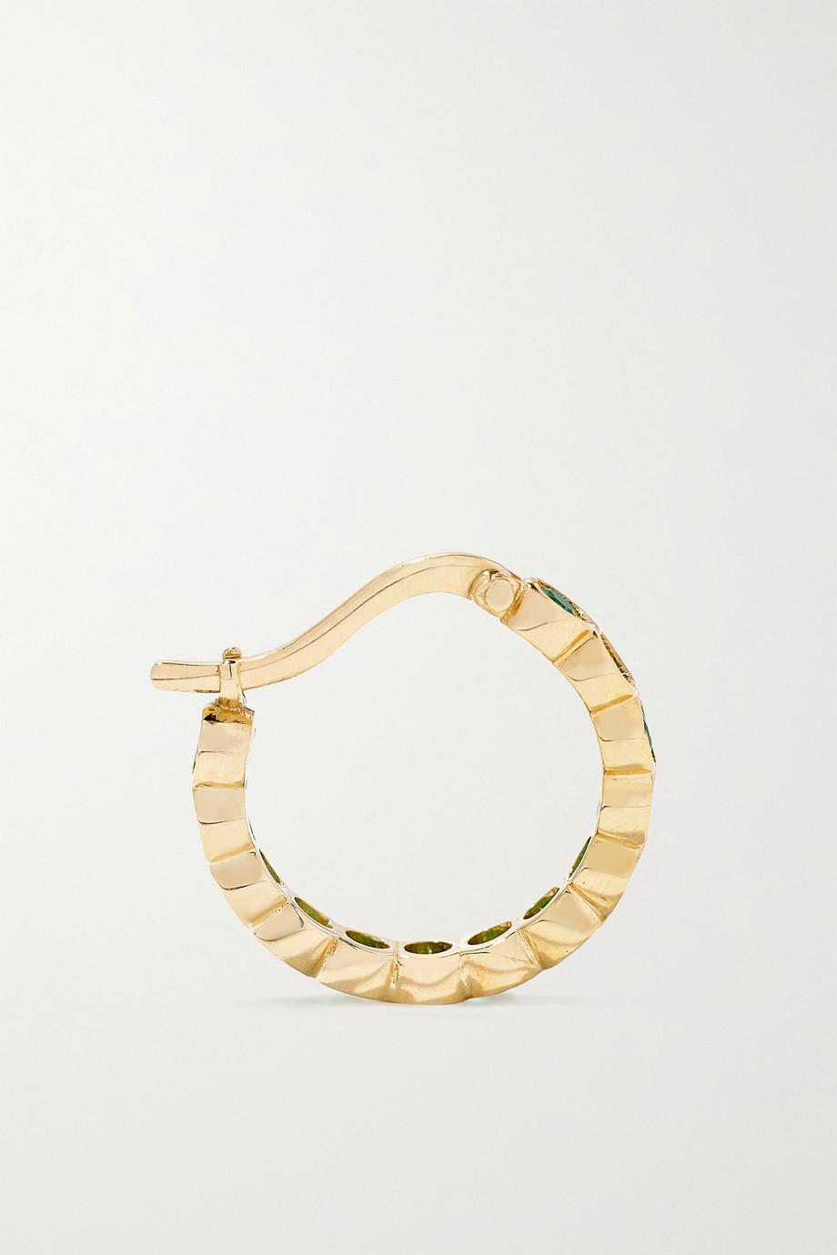 Octavia Elizabeth + NET SUSTAIN Petite Chloe recycled 18-karat gold emerald hoop earrings