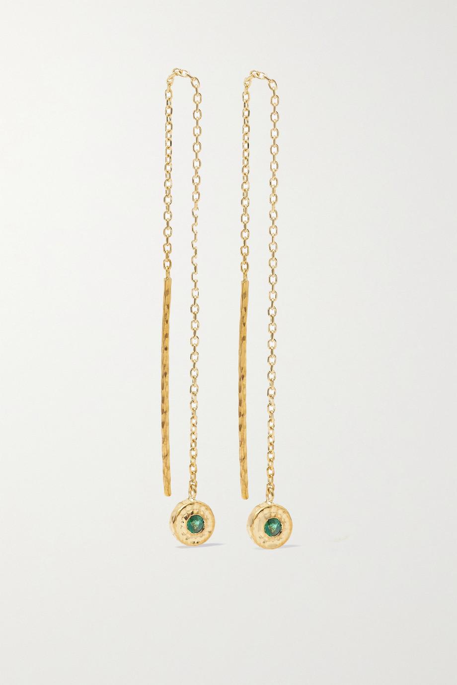 Octavia Elizabeth + NET SUSTAIN Nesting Gem 18-karat recycled gold emerald earrings