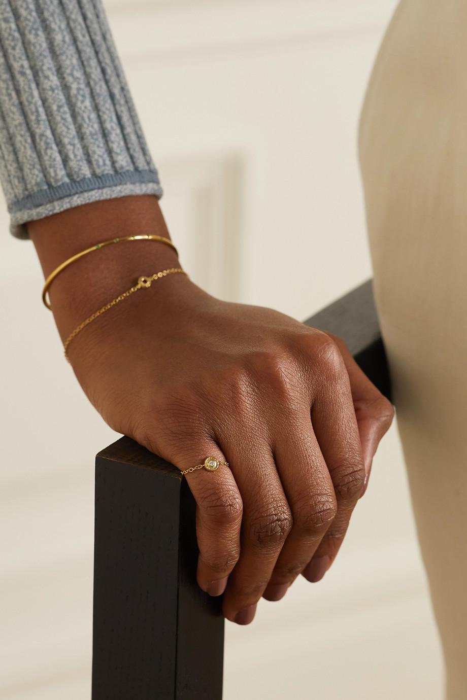Octavia Elizabeth + NET SUSTAIN Nesting Gem 18-karat recycled gold diamond ring