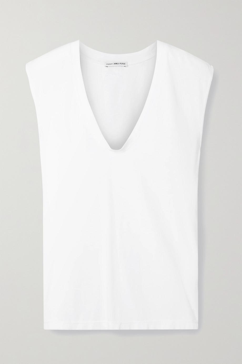 James Perse Slub cotton-jersey tank