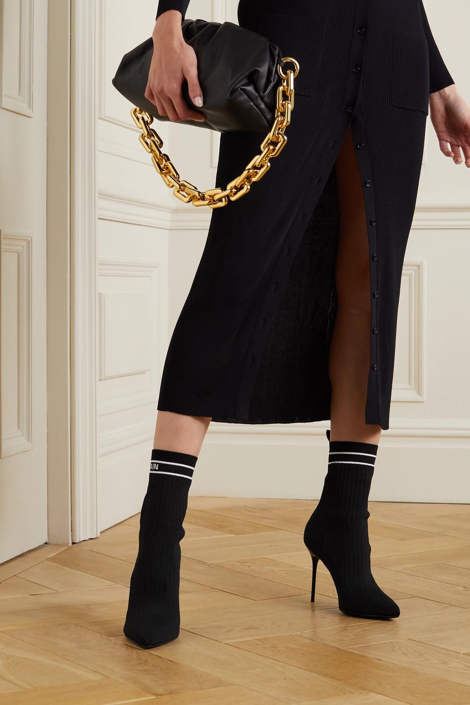 Balmain Skye Stiefel aus Stetch-Strick mit Logomuster