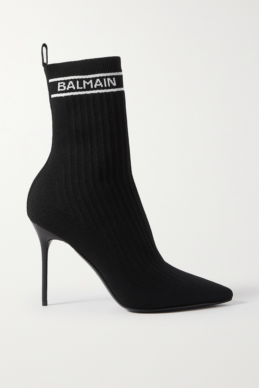 Balmain Bottines en mailles stretch à logo Skye