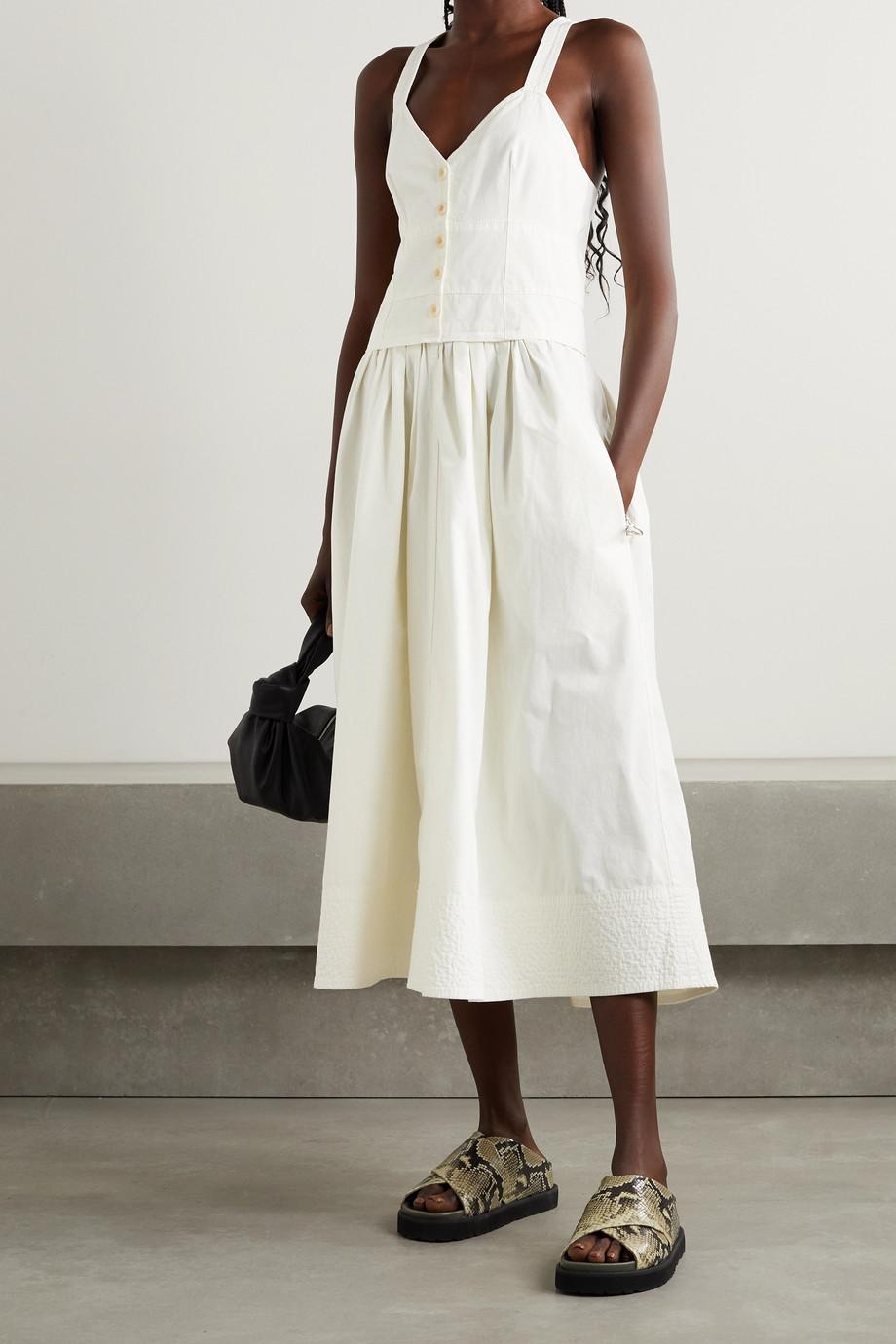 Proenza Schouler White Label Cotton-canvas midi dress