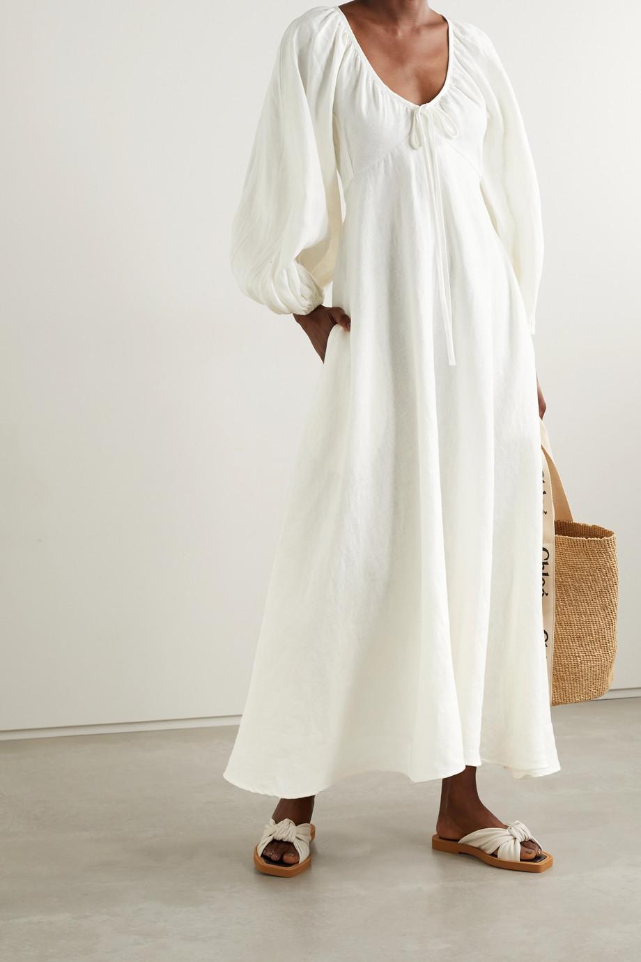 Fil De Vie + NET SUSTAIN Maribelle linen maxi dress