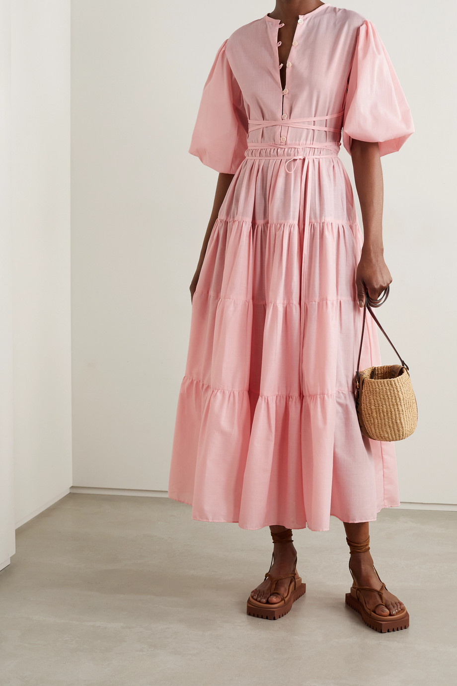 Fil De Vie + NET SUSTAIN Bellona Kleid aus Voile