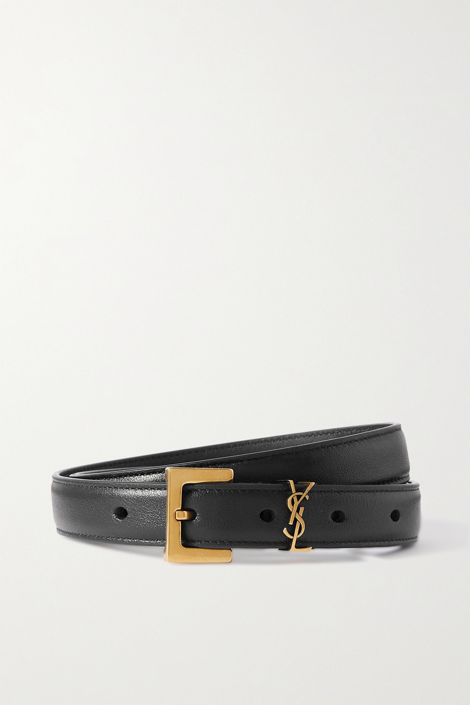 SAINT LAURENT - Leather belt