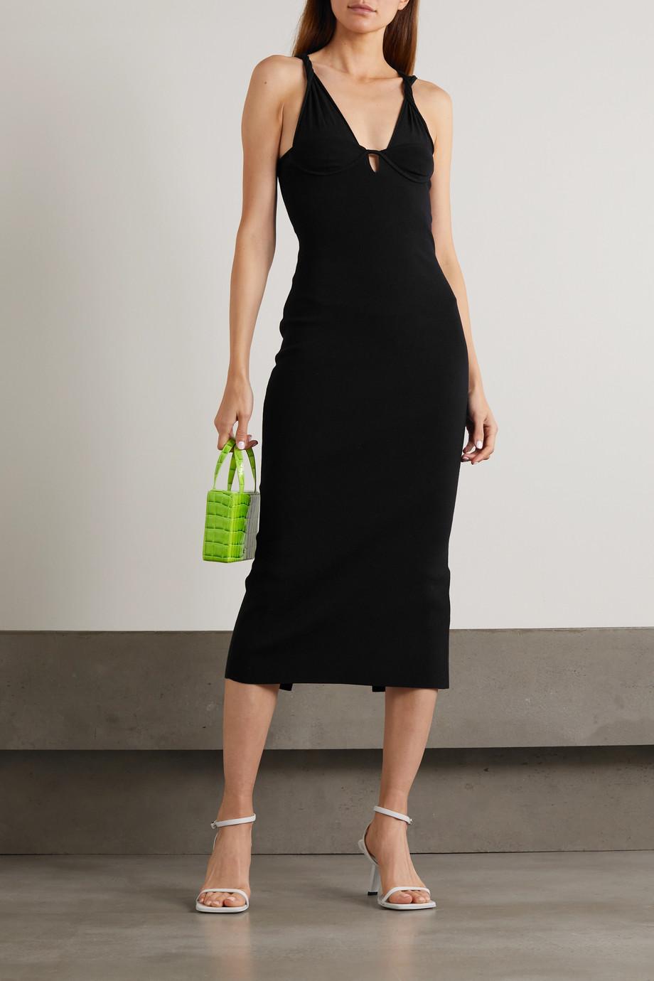Dion Lee Cutout cotton-blend midi dress