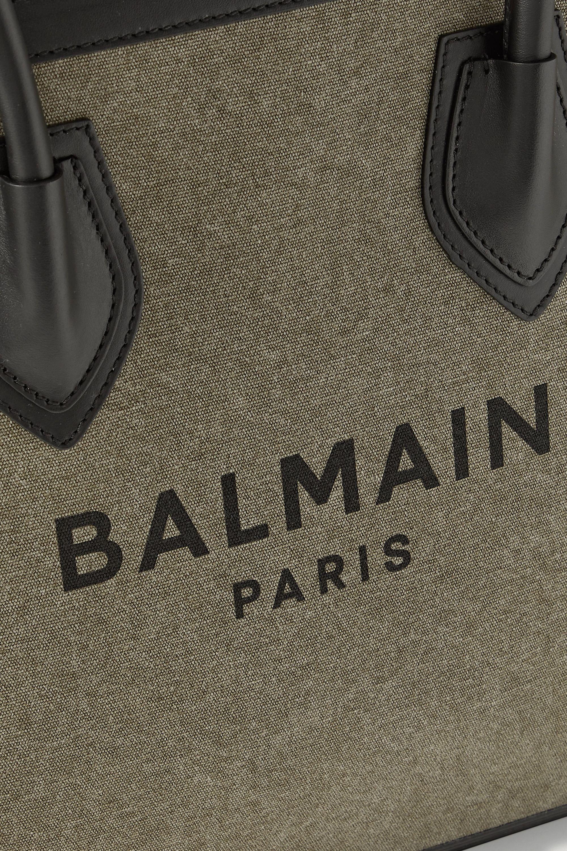 Balmain Sac à main en toile imprimée et en cuir B-Army