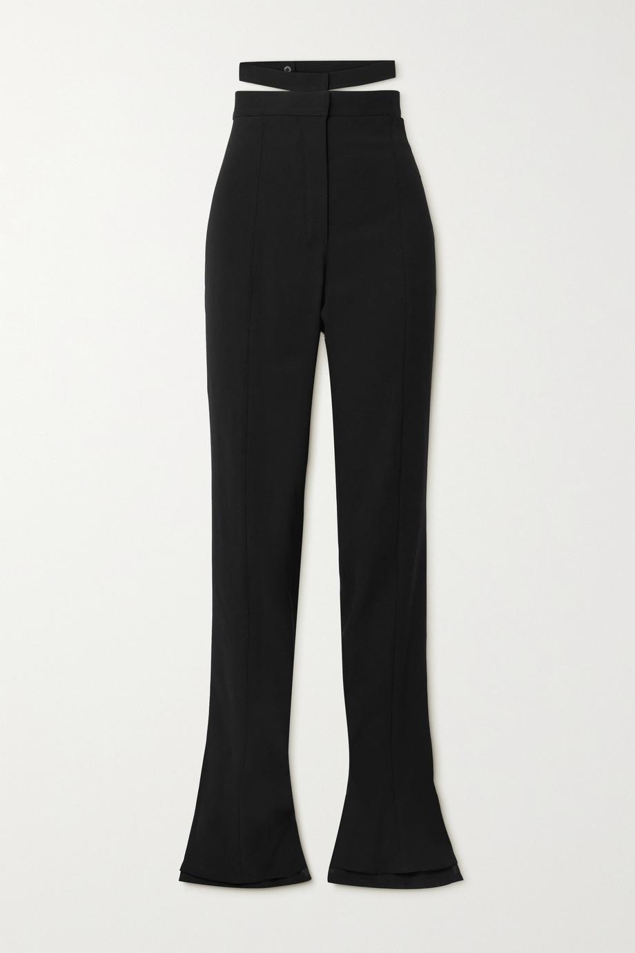 Mugler Cutout wool-twill flared pants
