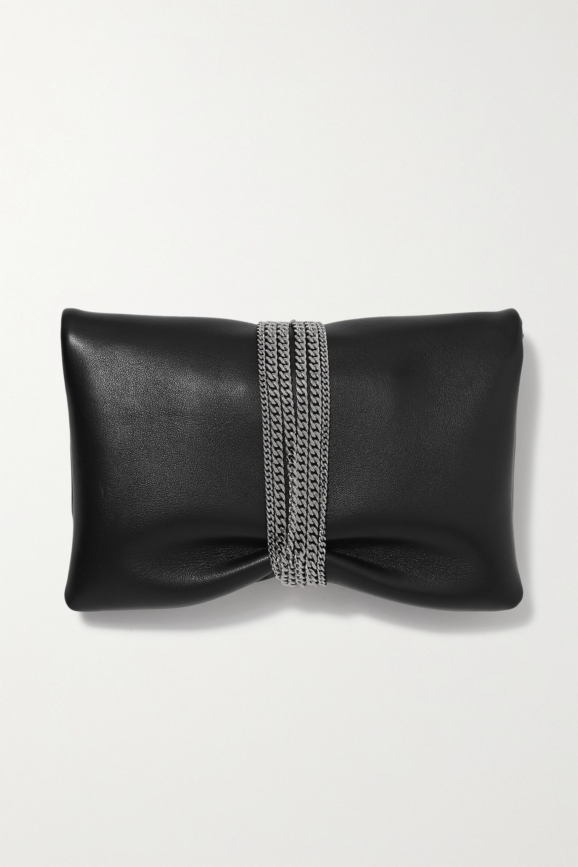 Jimmy Choo Daisy embellished gathered leather clutch