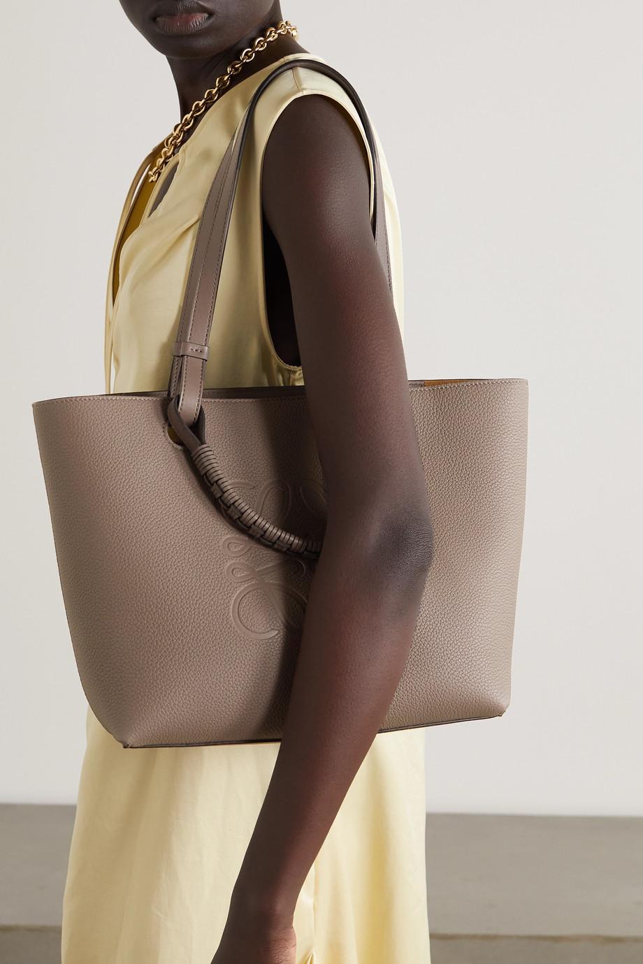 Loewe Anagram small debossed textured-leather tote
