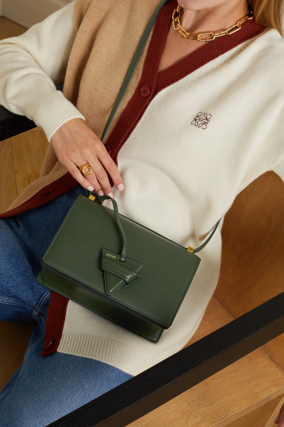 Loewe Sac porté épaule en cuir Barcelona