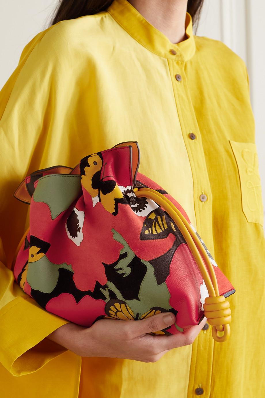 Loewe + Joe Brainard Flamenco Clutch aus Leder mit Einlegearbeit